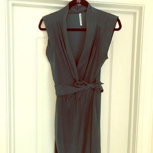Amanda Uprichard Size S Green Silk Wrap Mini Dress